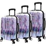 Steve Madden Luggage Collection - 3 Piece Hardside Lightweight Spinner Suitcase Set - Travel Set includes 20 Inch Carry On, 2