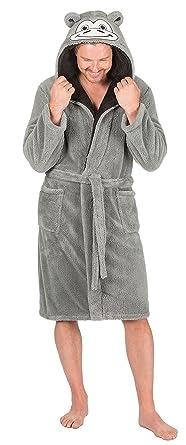 Robe de chambre polaire capuche homme