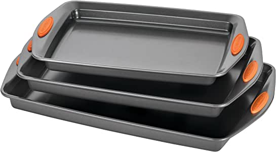 Rachael Ray Oven Lovin' Nonstick Bakeware 3-Piece Baking and Cookie Pan Set