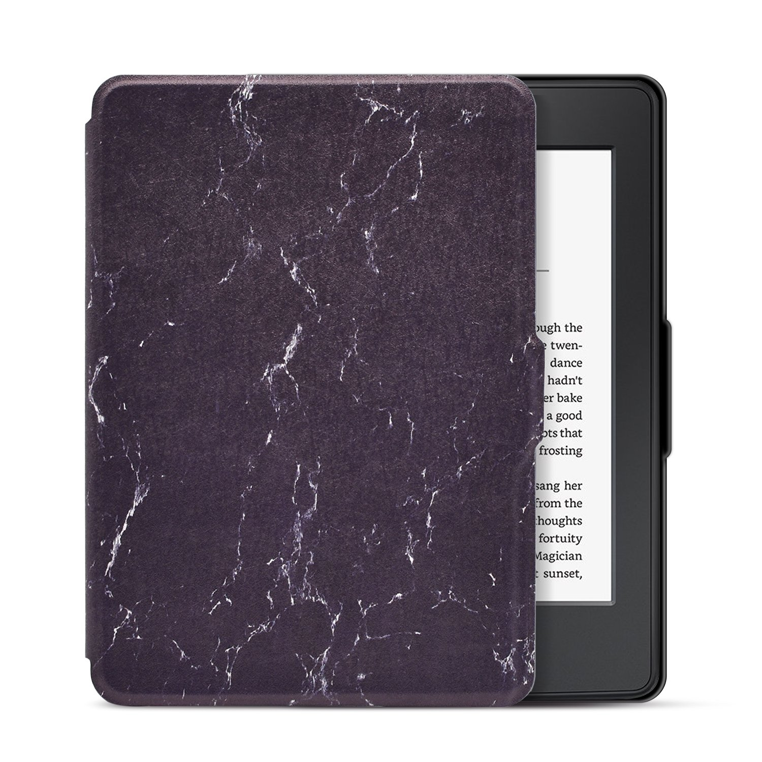 Dopup Case for Kindle Paperwhite, Slim and Light Smart Shell Cover for All-New Amazon Kindle Paperwhite, Folio Flip Style with Auto Sleep/Wake (Black Marble)