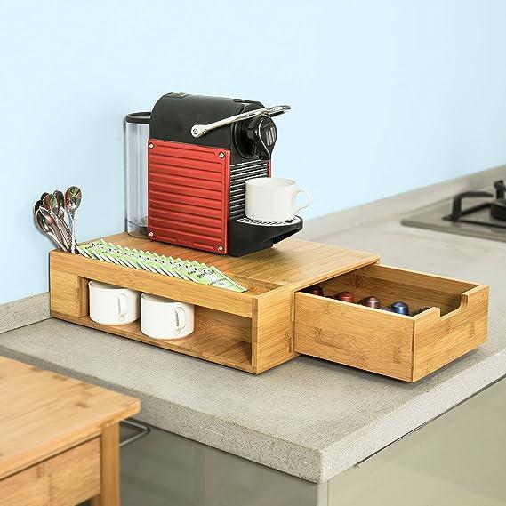 SoBuy® Cajón para almacenar cápsulas de Nespresso,Cubertería y Bandeja para Utensilios,FRG256-N,ES: Amazon.es: Hogar