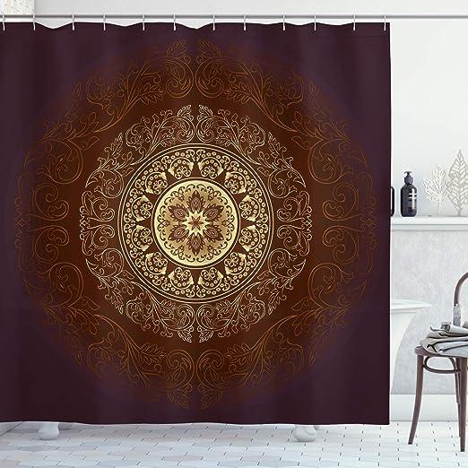 vrupi Mandala Cortina de Ducha Cosmic Spirit Culture Patrón ...