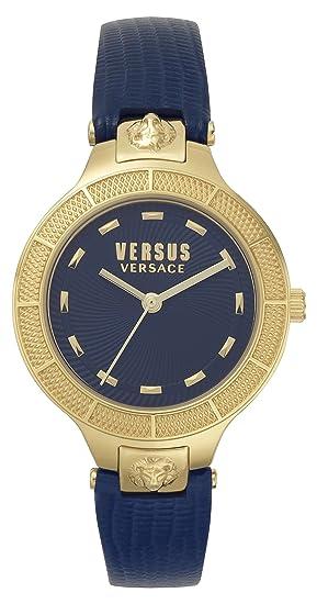 Versus by Versace Reloj Analogico para Mujer de Cuarzo con Correa en Cuero VSP480218