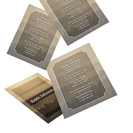 amazon com personalized funeral memorial announcement invitations