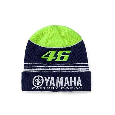 11f18033f9d VR46 Valentino Rossi Yamaha Factory Racing MotoGP Beanie Hat - Blue Yellow   Amazon.co.uk  Clothing