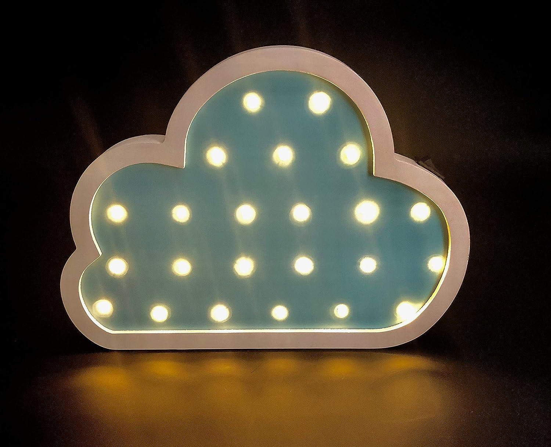 Luce led notturna per i bambini nuvola blu con led lampada da
