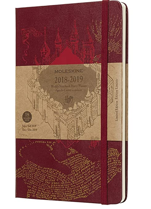 Moleskine Limited Edition Harry Potter 18 Month 2018-2019 Weekly Planner, Hard Cover, Large (5