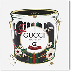 The Oliver Gal Artist Co. Fashion and Glam Wall Art Canvas Prints 'Velvet Marmont Paint Cans Home Décor, 12