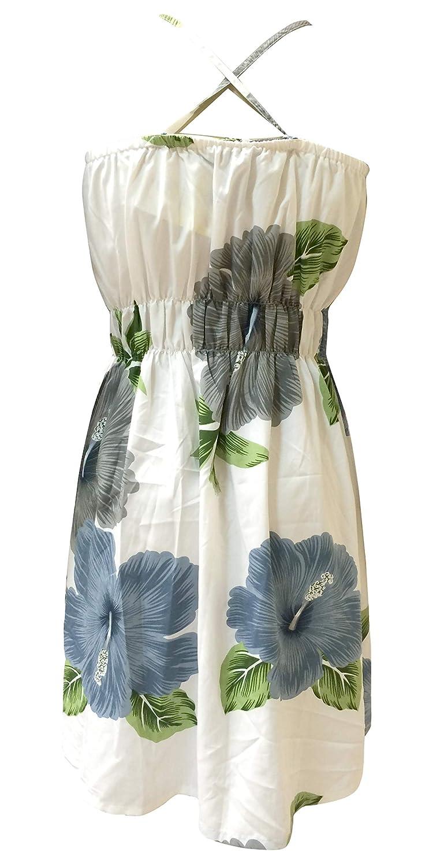 1e6ca2a850 SUNROSE White Grey Hibiscus Flowers Print Aloha Tube Dress Beach Party  Tunic Sundress  Amazon.ca  Clothing   Accessories