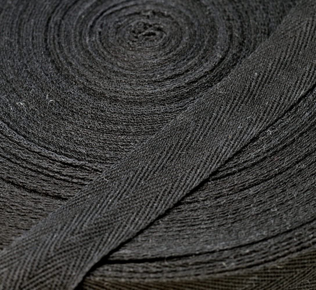 Anrox Supply Co.Twill Tape 3//4 to 2 Size 100/% Cotton Black Natural White 50 Yards 1, Natural