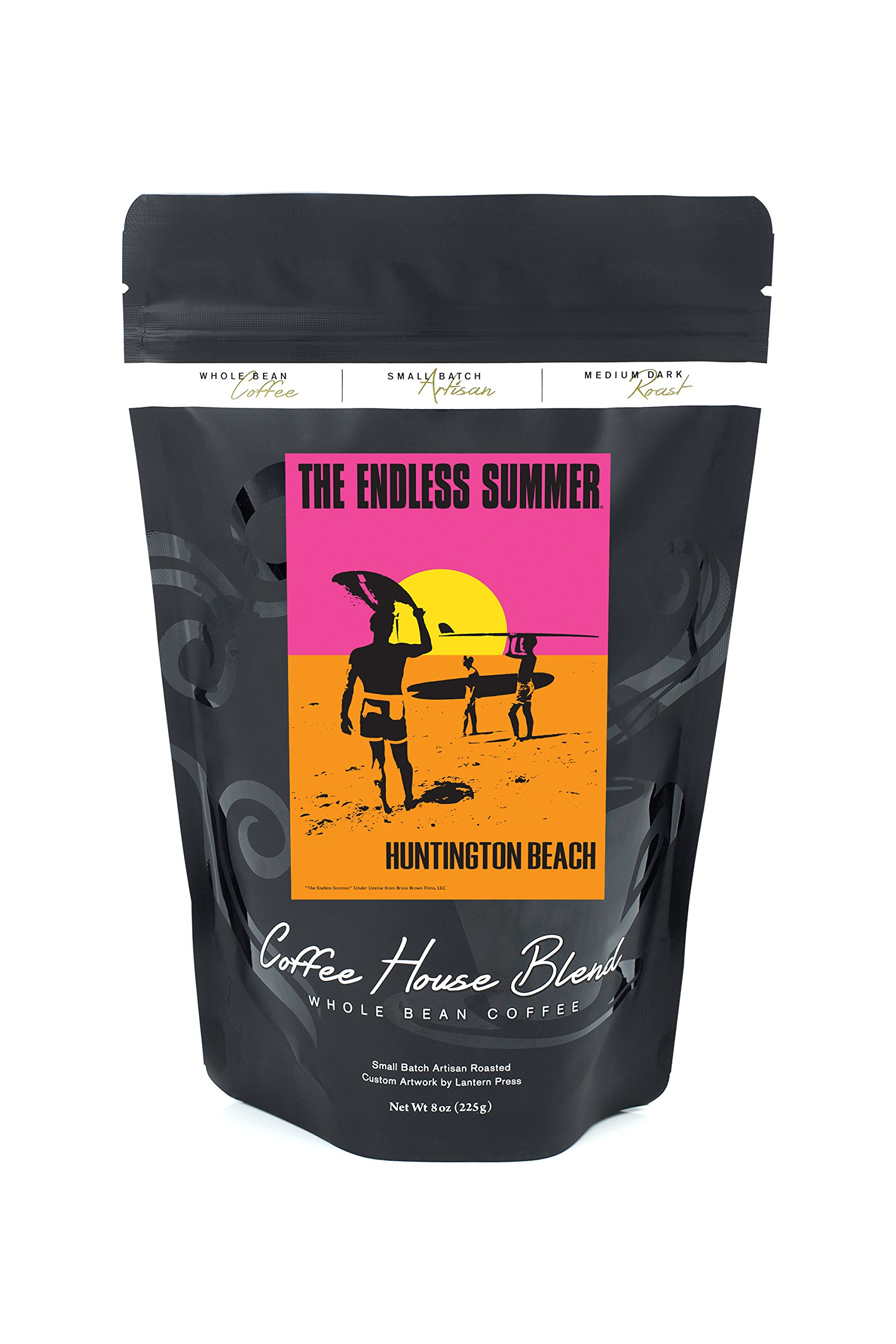 Huntington Beach, California - The Endless Summer - Original Movie Poster (8oz Whole Bean Small Batch Artisan Coffee - Bold & Strong Medium Dark Roast w/ Artwork)