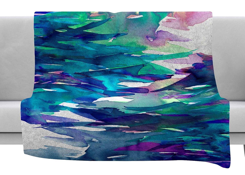 Kess InHouse EBI Emporium Fervor 5 Blue Teal Throw 80 x 60 Fleece Blanket