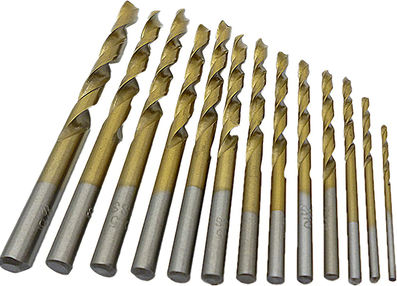 Edelstahlbohrer 1-13 mm 10,5 mm 1 St/ück Titanbohrer HSS-TiN DIN 338 Metallbohrer