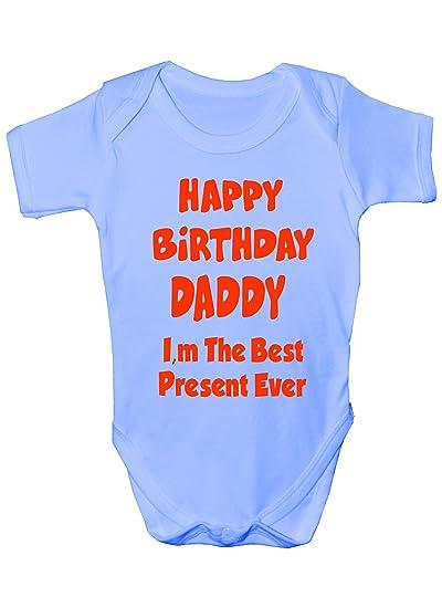 8774446a171e Amazon.com  Print4U Happy Birthday Dad Best Present Ever Baby Romper ...