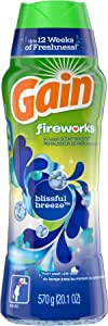 GAIN Gain Fireworks in-Wash Scent Booster Beads, Blissful Breeze, 20.1 Ounce