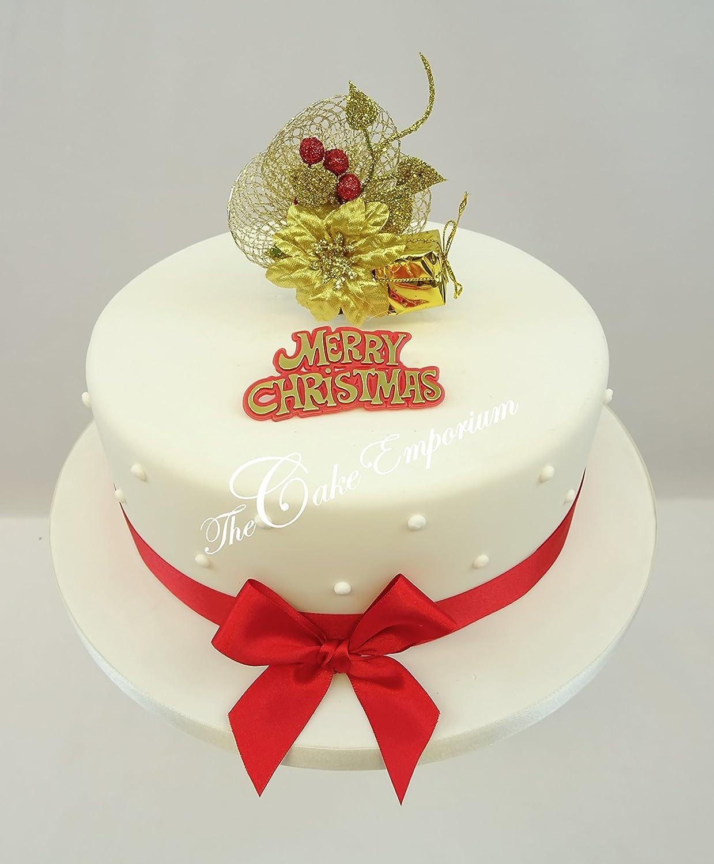 Weihnachtliche Kuchendekoration, Tortenaufsatz für