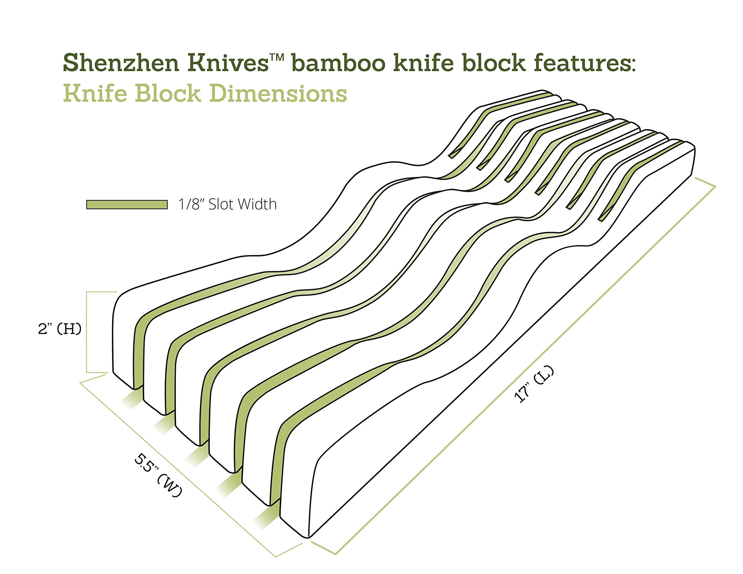 In-Drawer Bamboo Knife Block without Knives. Knife Storage and Organizer holds 10-15 knives by Shenzhen Knives by Shenzhen Knives (Image #4)