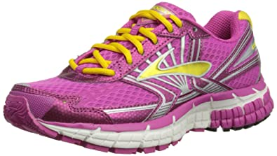 Brooks Kids Adrenaline GTS 14 Running Shoes, Color:  RoseViolet/Dandelion/White,