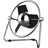 Sharper Image SBM1-SI USB Fan with Soft Blades, 2 Speeds, Touch Control, Quiet Operation, Metal Frame, 5V Wall Adapter…