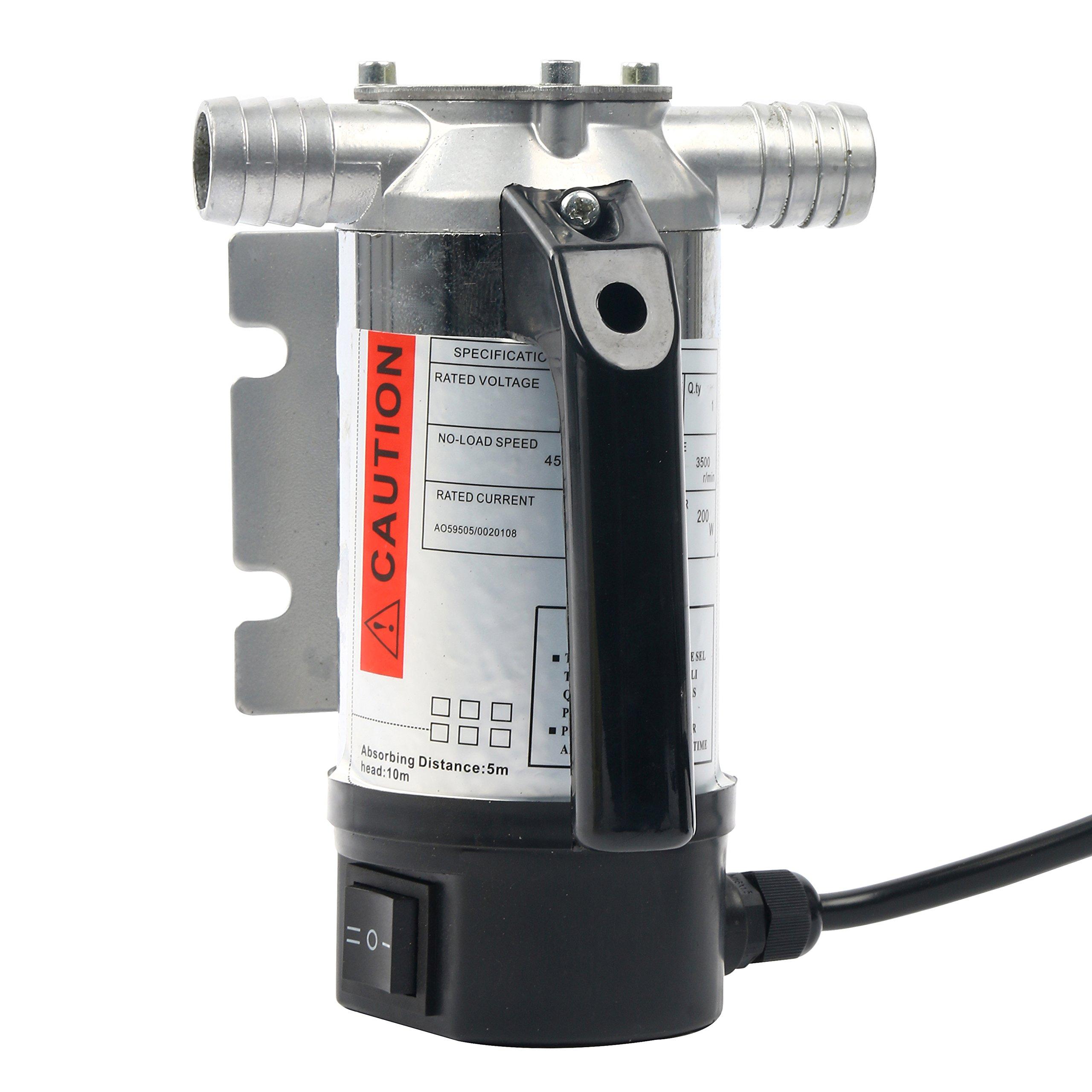 Amarine Made Update 12 Volt Fuel Oil/& Water Transfer Pump Diesel Kerosene Biodiesel 12V DC 10.5 gpm Pumps