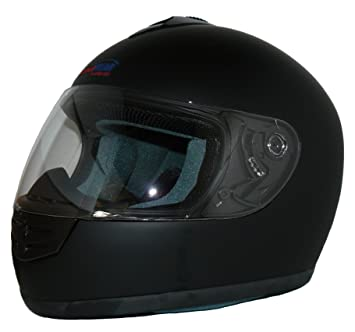 Protectwear Casco de moto mate negro V190-ES Tamaño XL