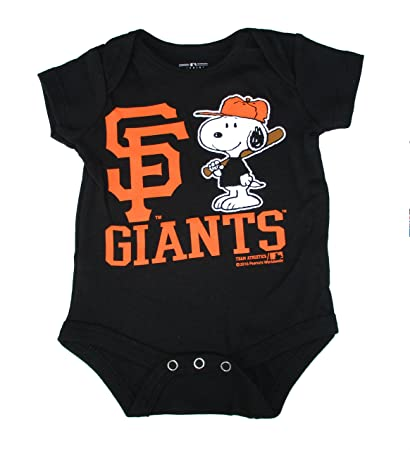 fbe813e0d Image Unavailable. Image not available for. Color: San Francisco Giants  Snoopy At Bat Infant Size 18 Months Onesie ...