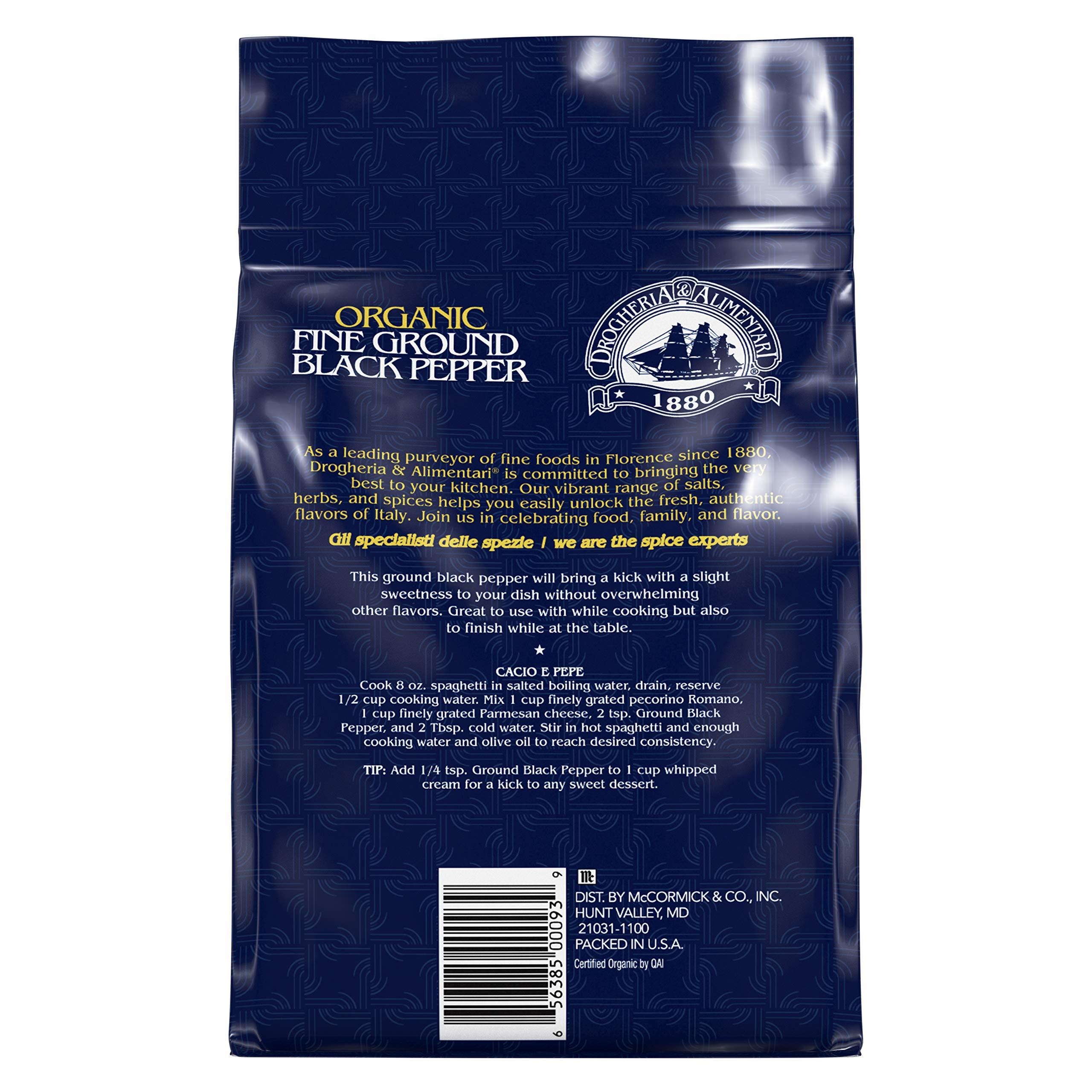 Drogheria & Alimentari Organic Fine Ground Black Pepper, 18.7 oz by Drogheria & Alimentari (Image #1)