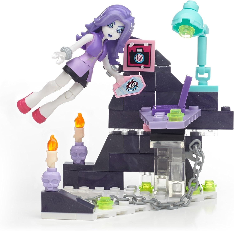 Mega Construx Monster High Spectra Vondergeist Ghostly Gossip Column Building Kit