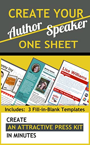 Amazon Com Create Your Author Or Speaker One Sheet In
