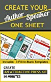 Create Your Author or Speaker One Sheet in Minutes - Templates Included [Online Code]