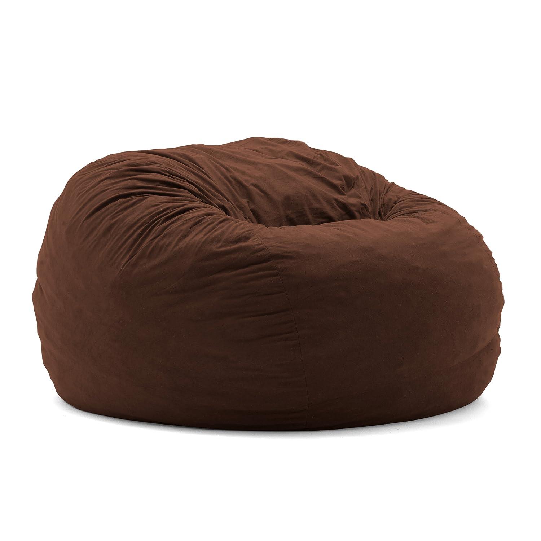 Amazon Big Joe King Fuf Foam Filled Bean Bag Chair Comfort Suede Espresso Kitchen Dining