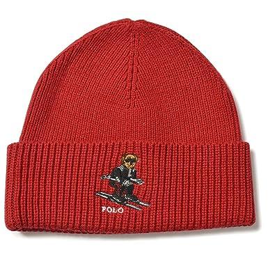 05f2e8c1be526 Ralph Lauren Polo Bear Tudor Red Beanie at Amazon Men s Clothing store