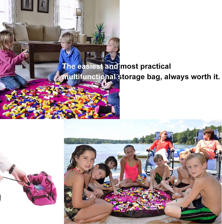 AMIGOB Sacco Portagiochi 2 in 1 Borsa per Giocattoli Lego 150cm Contenitore Raccogli Giocattoli Mattoncini Organizer