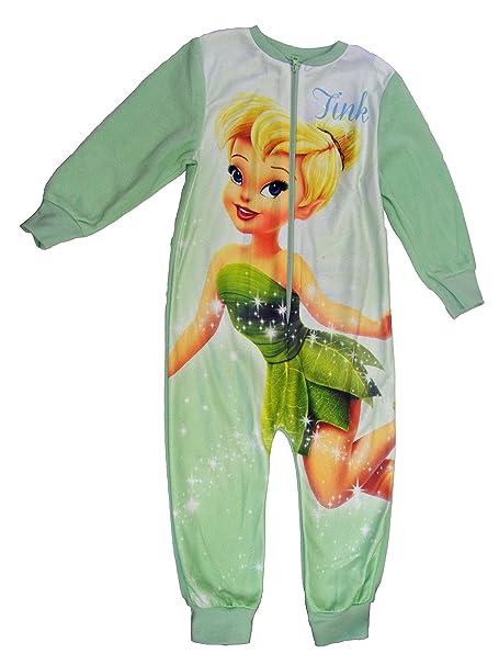 Disney Faries Tinkerbell carácter forro polar Onesie pijama PJ de tamaño UK 2 – 8 años