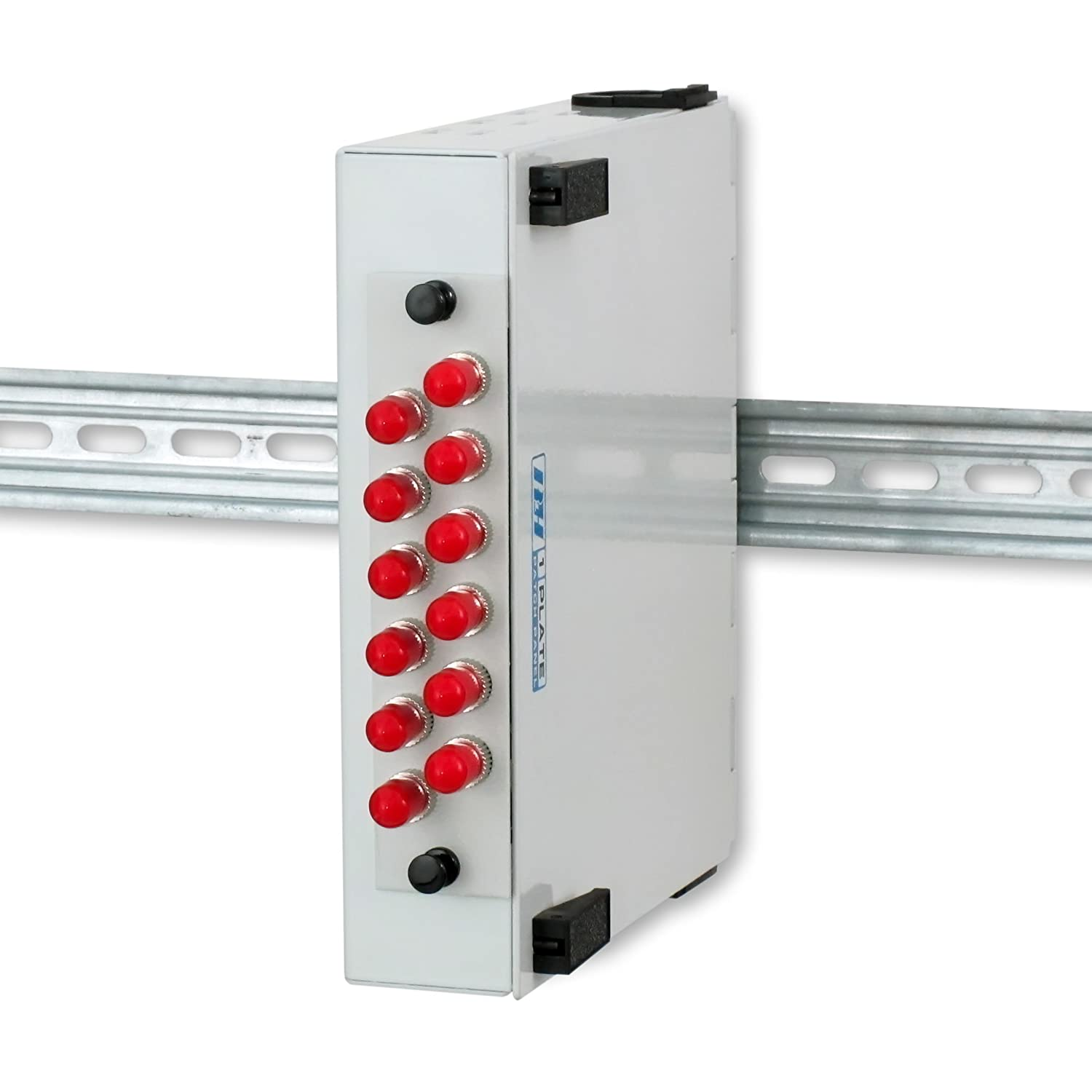 DIN Rail or Wall Mount with ST and LC Multimode Adapter Plates SC Fiber Optic Patch Panel