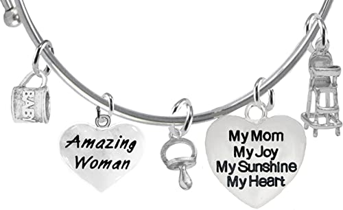My Love My Joy You Are My Sunshine My Sunshine Safe-Nickel Lead And Cadmium Free My Heart Hypoallergenic Adjustable Miracle Wire Bracelet