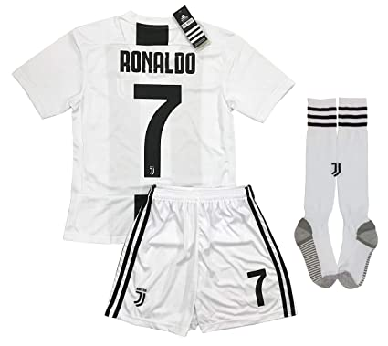 huge discount a7f12 1773a LiveSport New 2018-2019 Ronaldo #7 Juventus Home Jersey Shorts and Socks  for Kids & Youths