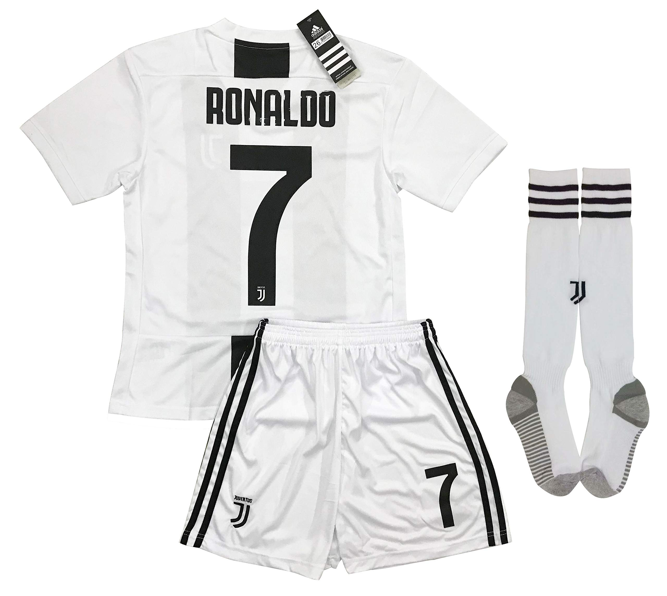 d8b874c71 LiveSport New 2018-2019 Ronaldo  7 Juventus Home Jersey Shorts and Socks  for Kids   Youths (11-13 Years Old)