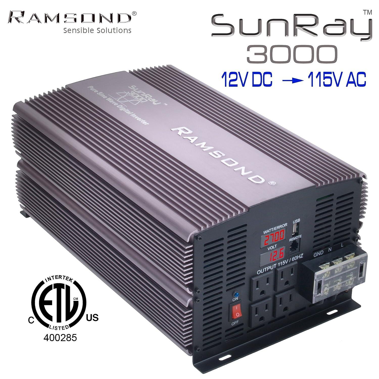 Ramsond Sunray 3000 6000 Watts W True Pure Sine Wave How To Build A100 Watt Inverter Circuit Homemade Power Generator Remote Starter Ready Back Up 12v Dc 115v 60hz Ac Rv Car