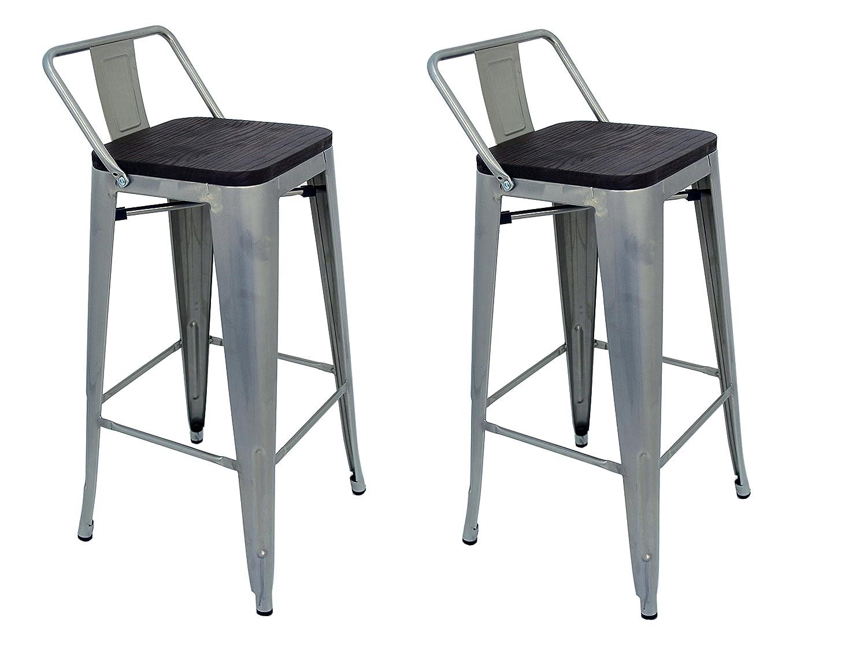La sedia spagnola t ó lix pack di sgabelli con schienale acciaio