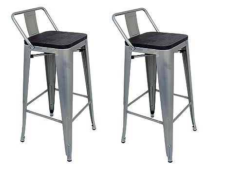 La sedia spagnola tólix pack di sgabelli con schienale acciaio