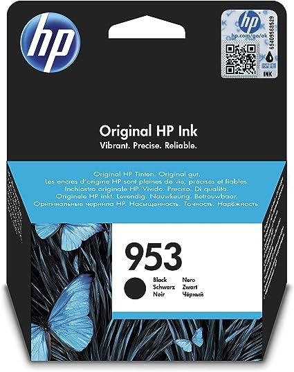 Oferta amazon: HP 953 L0S58AE, Negro, Cartucho de Tinta Original, compatible con impresoras de inyección de tinta HP OfficeJet Pro 7720, 7730, 7740, OfficeJet Pro Series 8000