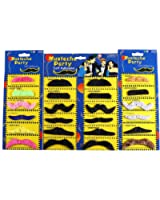 Fake Mustache by Jmean Novelty and Toy, Pack of 24 Mustaches