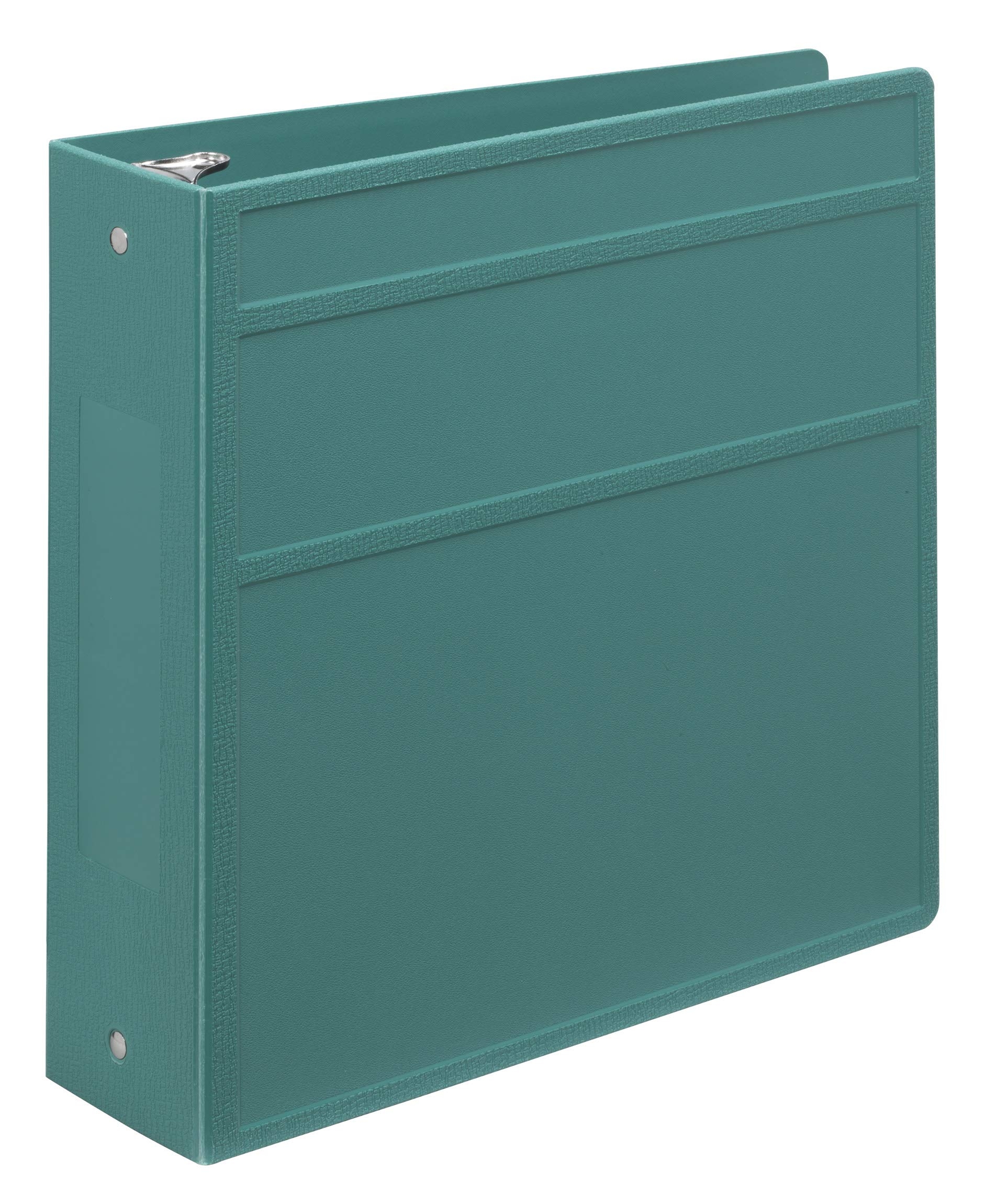 Carstens Heavy-Duty 3-Ring Binder - Side Opening (Teal, 3 Inch) by Carstens