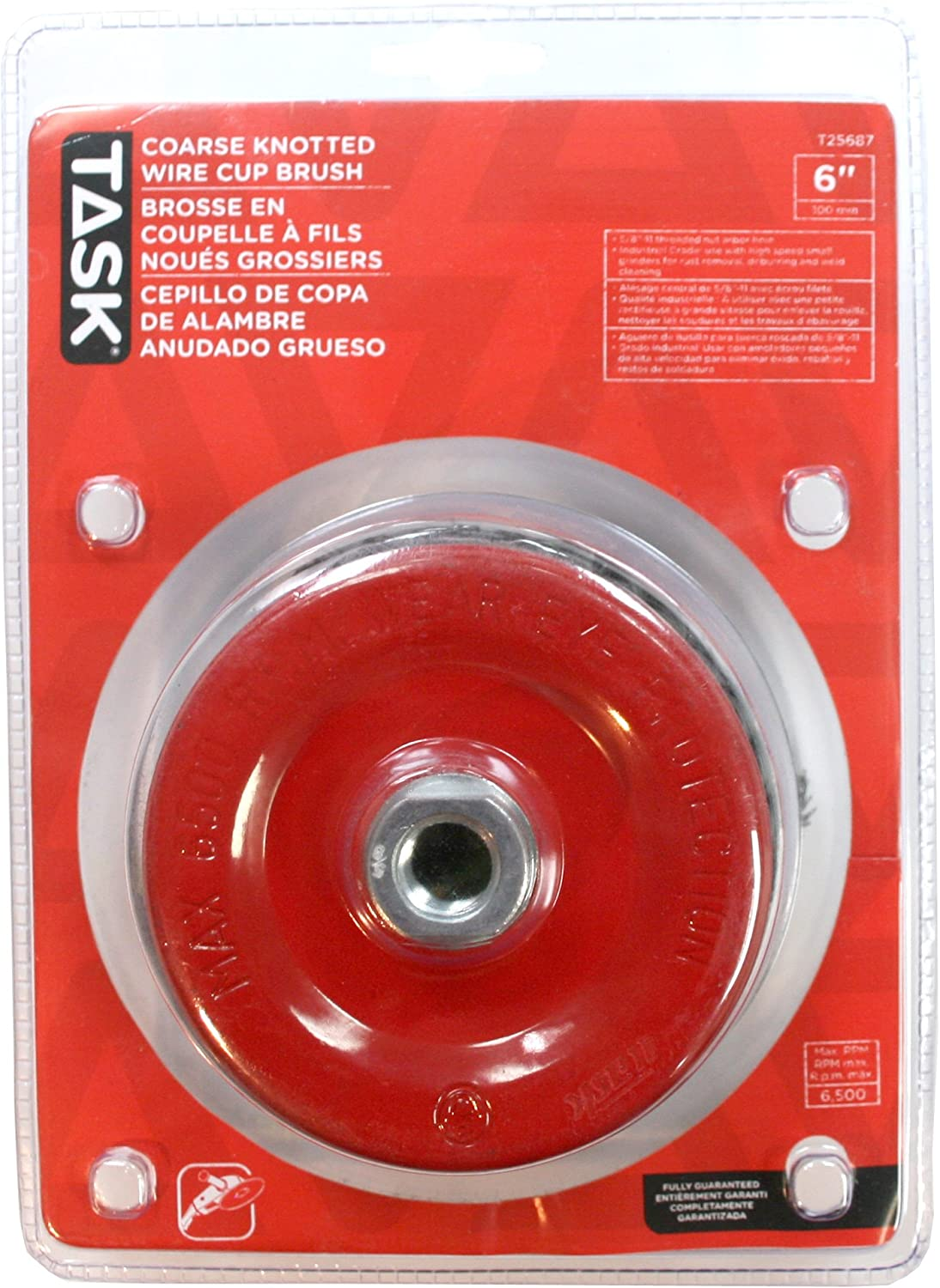 Task Tools T25685 2-3//4-Inch Coarse Knotted Steel Wire