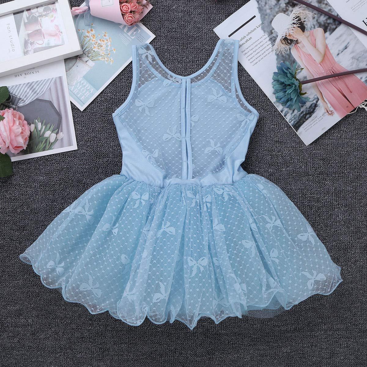 iEFiEL Girls Princess Ruffle//Cap Sleeves Ballet Dance Gymnastics Tutu Leotard Dress Ballerina Dancewear