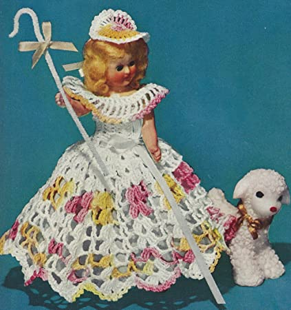 Amazon Vintage Crochet Pattern To Make 8 Inch Doll Clothes Bo