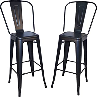 product image for Carolina Chair & Table Monaco 30-Inch Bar Set of 2 Stool, Black
