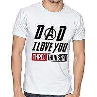 Playera Hombre Dia del Padre Papa Avengers Dad I Love You #563