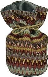 McAlister Curitiba Unfilled Decorative Fabric Door Stop | Multicolored Red & Purple | Soft Textured Chenille Chevron | Moroccan Ethnic Bohemian Accent Décor